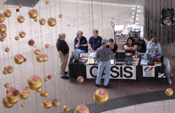View from above of the OASIS table.