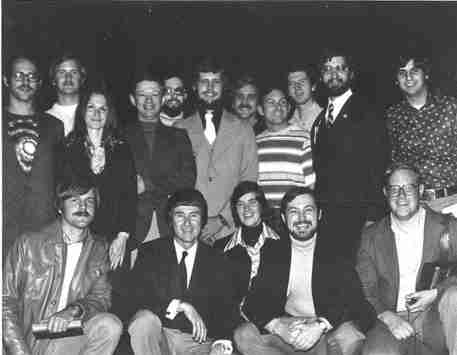 Photo of Dr. Gerard K. O'Neill and OASIS members from 1978.